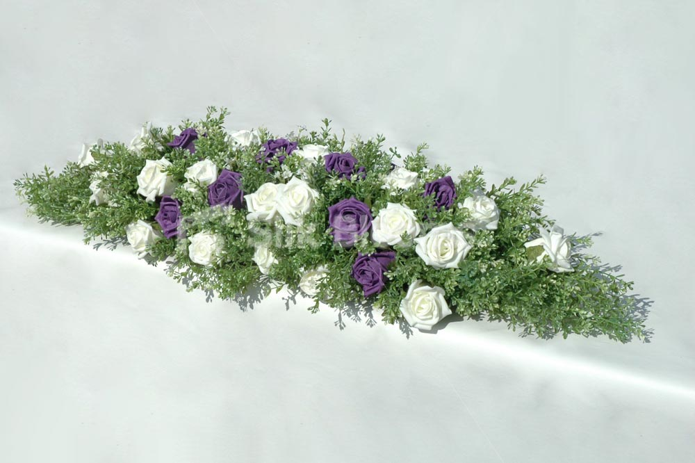 Purple Rose Flower Arrangements Wide Wallpaper
