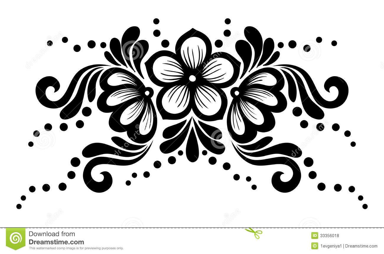Wedding Card Design Line Art : Black flower design free wallpaper hdflowerwallpaper