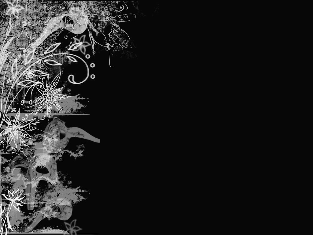 Black Flower Design 8 Background Wallpaper