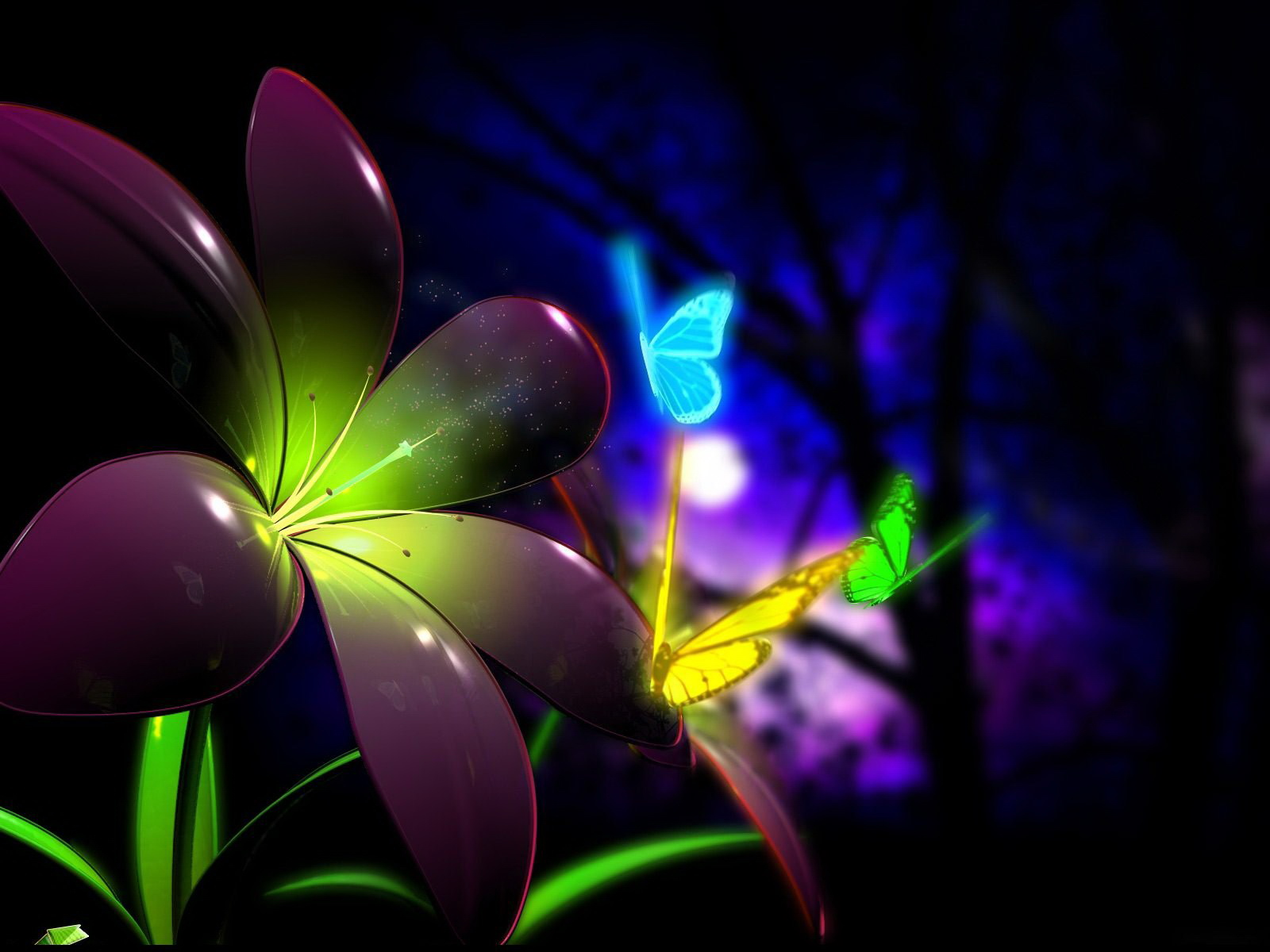 flower wallpaper 3d 16 desktop background - hdflowerwallpaper