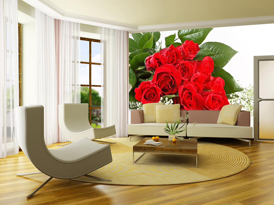 Flower Wallpaper Living Room 13 Desktop Wallpaper