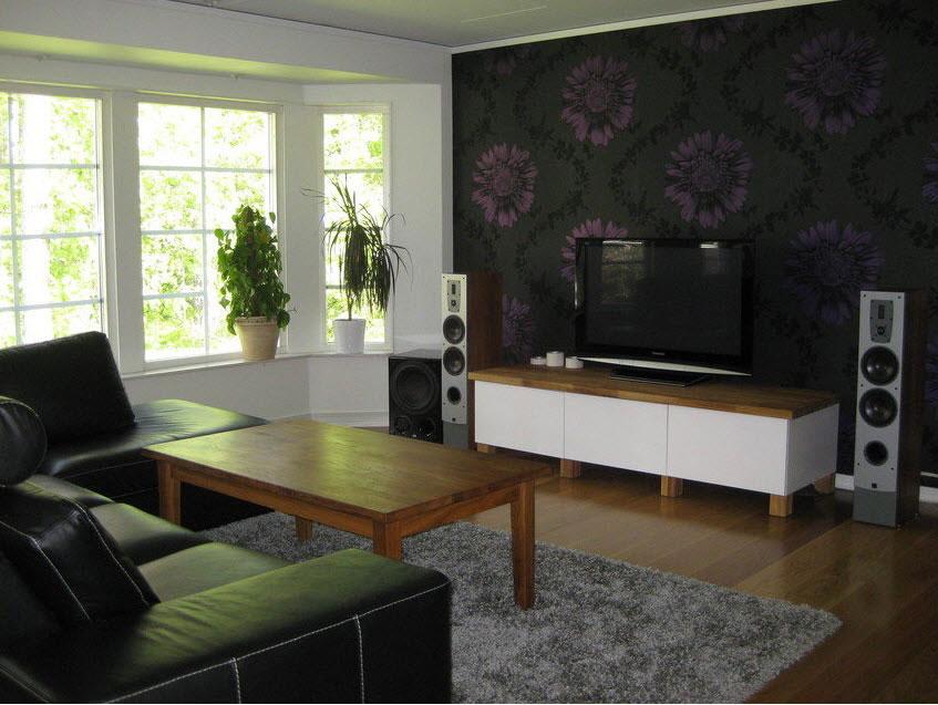 Flower wallpaper living room 21 cool wallpaper for Cool room wallpaper