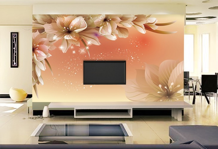 Download Convert View Source. Tagged On : Flower Wallpaper Living Room ... Part 73