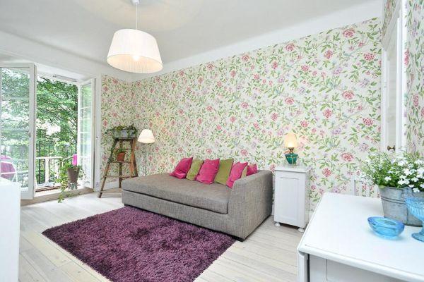 Flower wallpaper living room 9 widescreen wallpaper for Flower wallpaper for living room