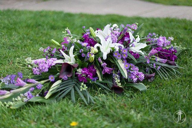 Purple Flowers In Funeral Wide Wallpaper