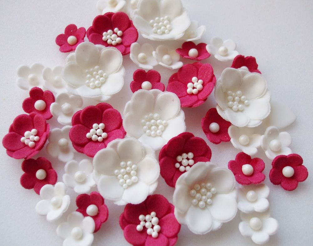Red Flowers Cake Decoration 29 Desktop Wallpaper