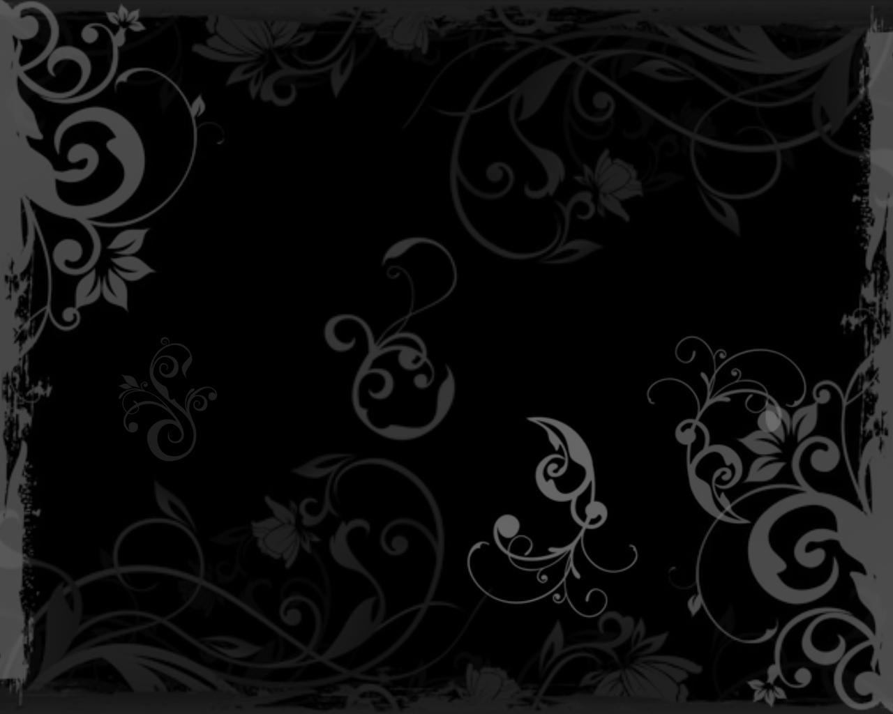 Black Floral Desktop Background
