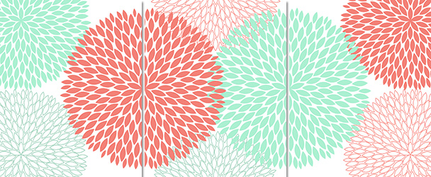 coral and green flower wallpaper for walls Free Wallpaper