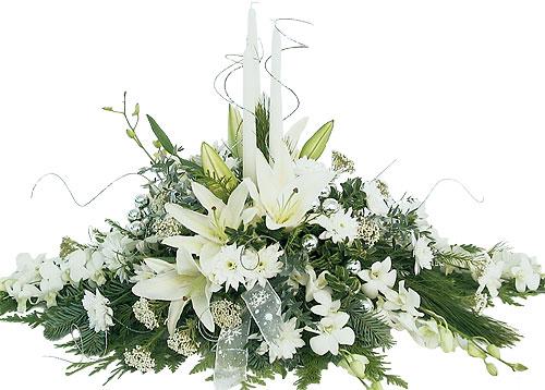 White Flowers Centerpieces 6 Background Wallpaper